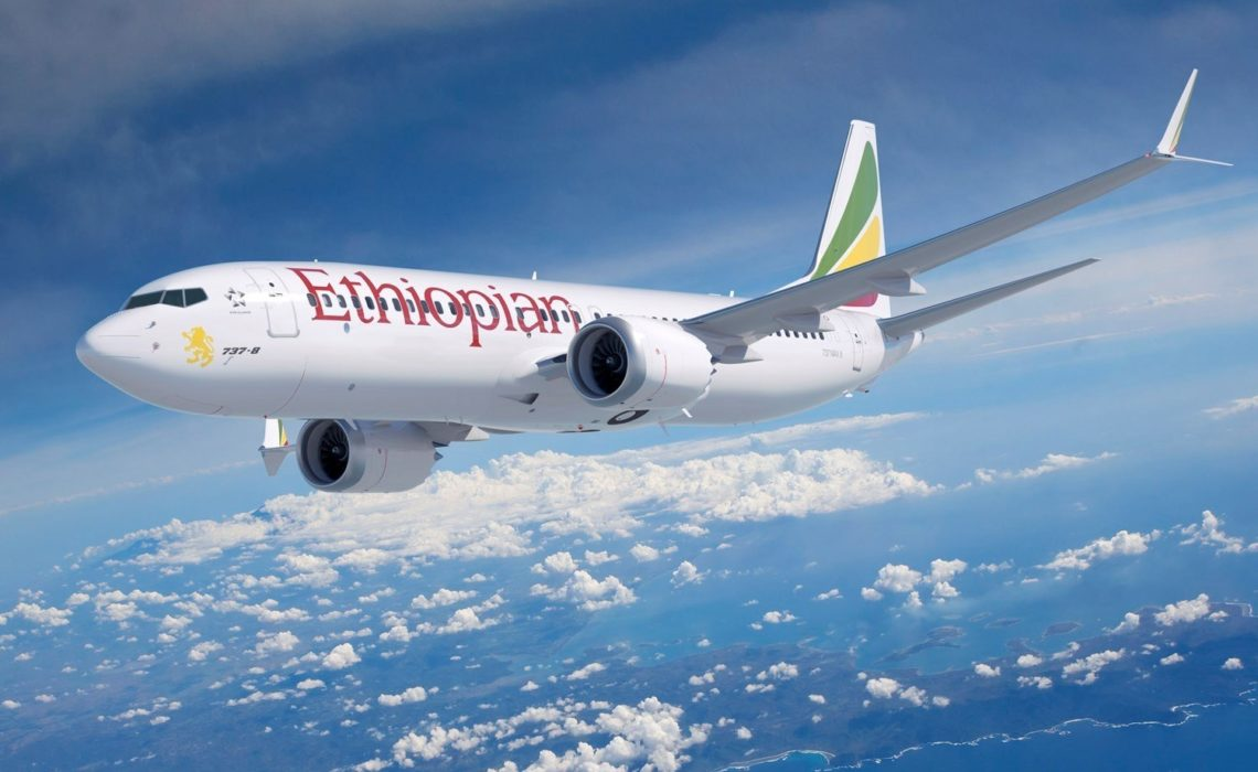 Ethiopian Airlines takes delivery of its first Boeing 737 MAX 8. (PRNewsfoto/Boeing)