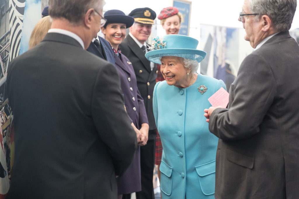LONDON, UK: Her Majesty The Queen meets British Airways colleagues at Waterside on 23 May 2019 (Picture by Nick Morrish/British Airways)