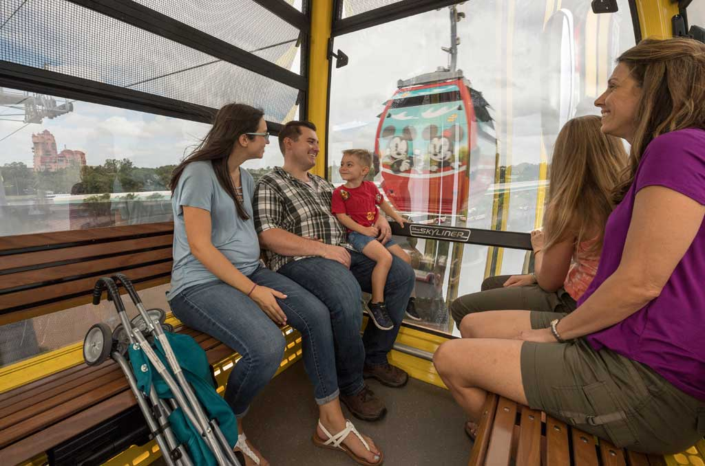 Disney Skyliner will begin carrying guests high above Walt Disney World Resort in Lake Buena Vista, Fla., on Sept. 29, 2019.The state-of-the-art transportation system will feature custom cabins that glide through the air, conveniently transporting guests between Disney's Hollywood Studios and Epcot to four resort hotels – Disney's Art of Animation Resort, Disney's Caribbean Beach Resort, Disney's Pop Century Resort and the new Disney's Riviera Resort, scheduled to open in December 2019. (Kent Phillips, Photographer)