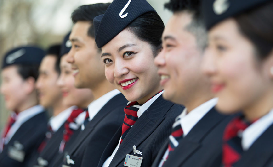 Chinese Cabin Crew Wing Ceremony  Taken: 27th May 2016  Picture by: Stuart Bailey / British Airways