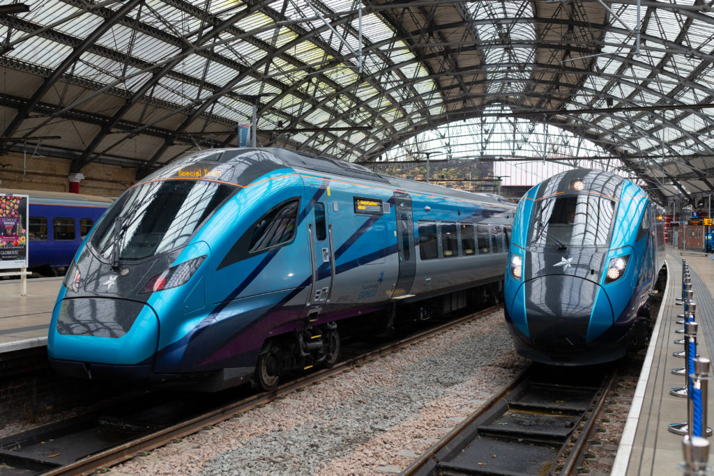 *** FREE FOR EDITORIAL USE *** TransPennine Express unveils its £500m new Nova fleet of trains which will increase capacity by 80% across the network.